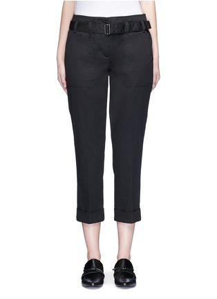首图 - 点击放大 - 3.1 PHILLIP LIM - 单色卷边棉质八分裤