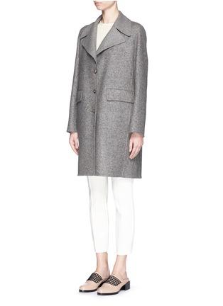 正面 - 点击放大 - THE ROW - 'Sonja' virgin wool-silk tweed coat