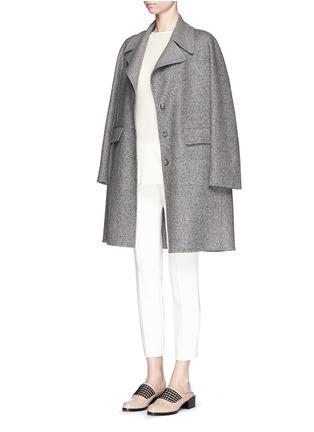 模特示范图 - 点击放大 - The Row - 'Sonja' virgin wool-silk tweed coat