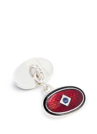细节 - 点击放大 - DEAKIN & FRANCIS - 椭圆形链条袖扣