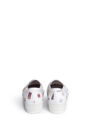 背面 - 点击放大 - JOSHUA SANDERS - 纽约印花字母布贴厚底便鞋