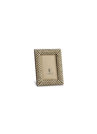 首图 –点击放大 - L'OBJET - 编织形镀铂金相框(3寸)