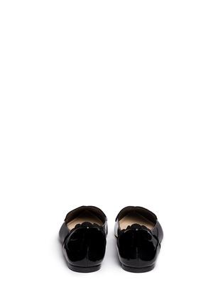 背面 - 点击放大 - ISA TAPIA - CLEMENT心形绒面皮拼接漆皮平底鞋