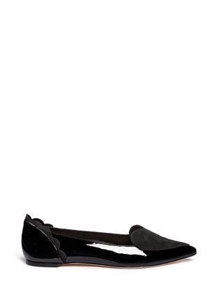 首图 - 点击放大 - ISA TAPIA - CLEMENT心形绒面皮拼接漆皮平底鞋