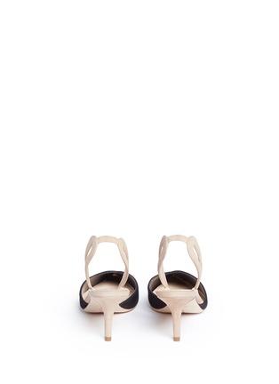 背面 - 点击放大 - ISA TAPIA - CLEMENTINA拼色绒面皮侧空高跟鞋