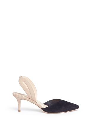 首图 - 点击放大 - ISA TAPIA - CLEMENTINA拼色绒面皮侧空高跟鞋