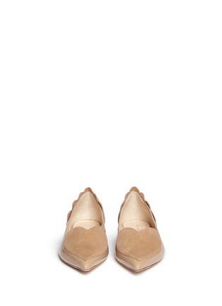 正面 -点击放大 - ISA TAPIA - CLEMENT心形绒面皮拼接漆皮平底鞋