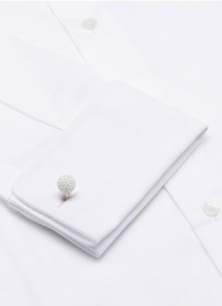 细节 - 点击放大 - DEAKIN & FRANCIS - 高尔夫球造型纯银袖扣
