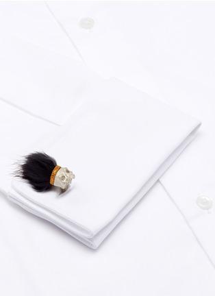 模特儿示范图 - 点击放大 - DEAKIN & FRANCIS - 骷髅头造型纯银袖扣