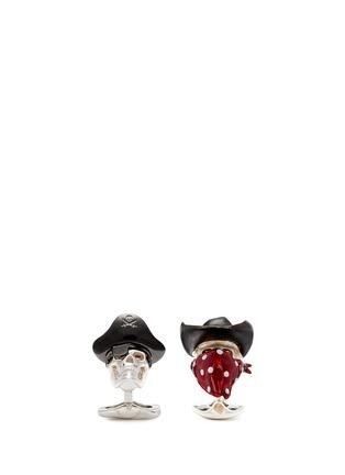 首图 - 点击放大 - DEAKIN & FRANCIS - 海盗骷髅头造型纯银袖扣
