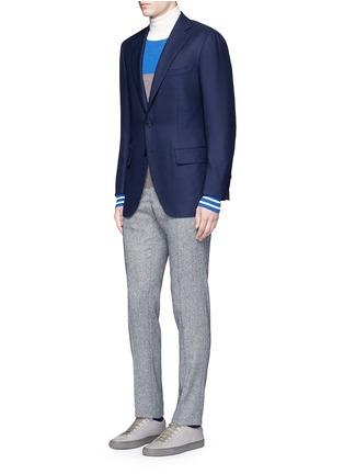 模特儿示范图 - 点击放大 - TOMORROWLAND - 单色羊毛西服外套