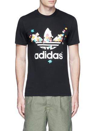 首图 - 点击放大 - ADIDAS BY PHARRELL WILLIAMS - PW FLOWER品牌标志雏菊胶印T恤