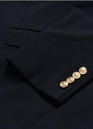 细节 - 点击放大 - SAINT LAURENT - 徽章拼贴羊毛西服外套