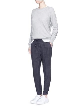 模特儿示范图 - 点击放大 - JAMES PERSE - 亚麻工装裤
