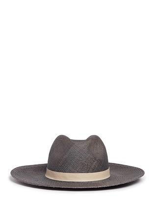 首图 - 点击放大 - JANESSA LEONE - Dahlia羊皮帽带装饰草帽
