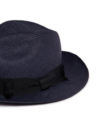 细节 - 点击放大 - Sensi Studio - 蝴蝶结帽带巴拿马草帽