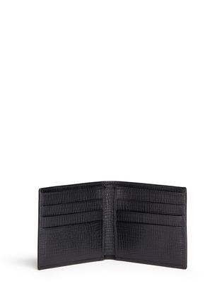 模特儿示范图 - 点击放大 - DOLCE & GABBANA - 拼贴缀饰纹理牛皮折叠钱包