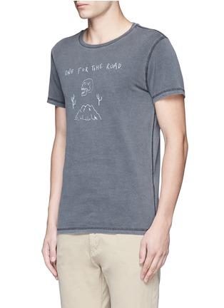 正面 -点击放大 - SCOTCH & SODA - 字母图案水洗纯棉T恤