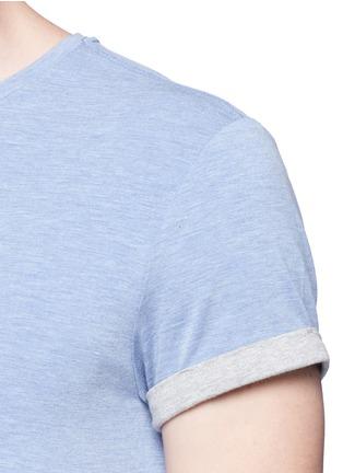 细节 - 点击放大 - SCOTCH & SODA - 品牌胶印卷边袖T恤