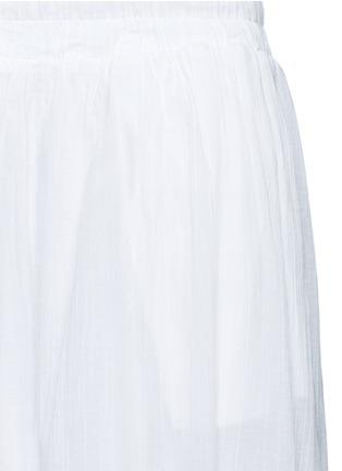 细节 - 点击放大 - JAMES PERSE - 皱感纯棉半身长裙