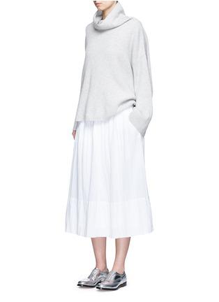 模特儿示范图 - 点击放大 - JAMES PERSE - 皱感纯棉半身长裙
