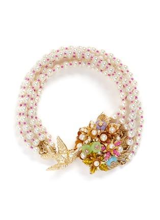 首图 - 点击放大 - MIRIAM HASKELL - 小鸟花卉造型玻璃珍珠手链