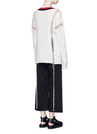 背面 - 点击放大 - ALEXANDER WANG - 拼色扭花系带条纹针织衫