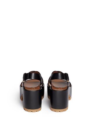 背面 - 点击放大 - Marni - 交叉搭带坡跟凉鞋