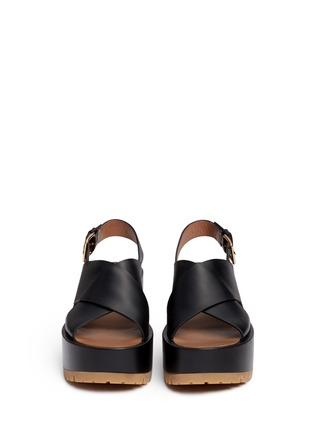 正面 - 点击放大 - Marni - 交叉搭带坡跟凉鞋