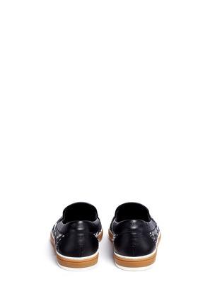 背面 - 点击放大 - JIMMY CHOO - Grove毛线缀饰大格纹牛仔便鞋