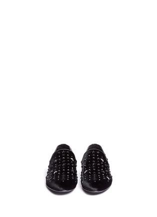 正面 -点击放大 - JIMMY CHOO - Sloane星星缀饰丝绒平底便鞋