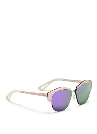 模特儿示范图 - 点击放大 - DIOR - 金属半框反光太阳眼镜
