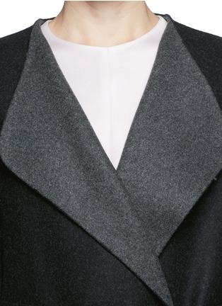 细节 - 点击放大 - THE ROW - AUGUSTUS弧边羊毛大衣