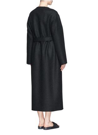背面 - 点击放大 - THE ROW - AUGUSTUS弧边羊毛大衣