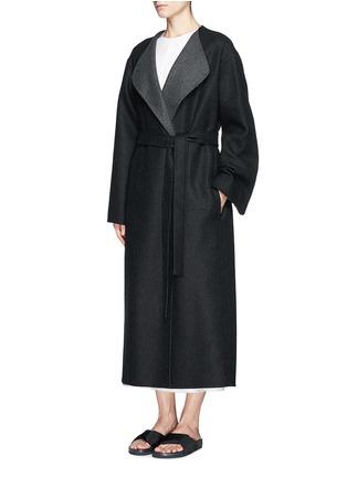 正面 - 点击放大 - THE ROW - AUGUSTUS弧边羊毛大衣