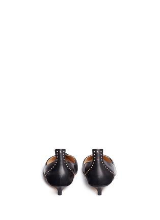 背面 - 点击放大 - FRANCESCO RUSSO - 铆钉点缀尖头真皮低跟鞋