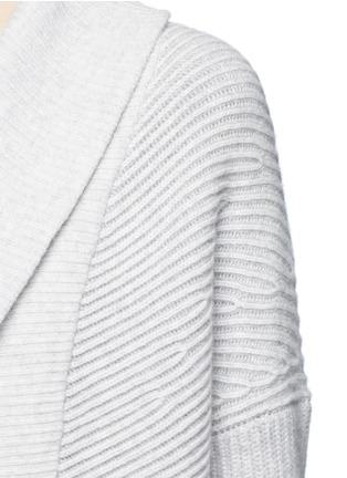 细节 - 点击放大 - Vince - 拼色羊毛混羊绒针织外套