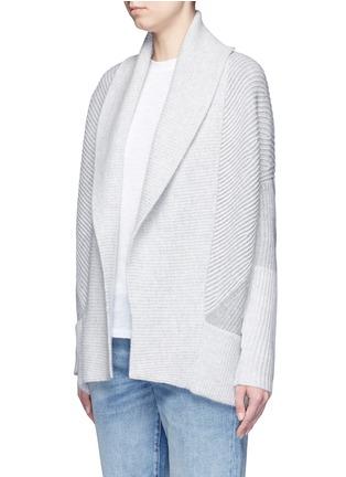 正面 - 点击放大 - Vince - 拼色羊毛混羊绒针织外套