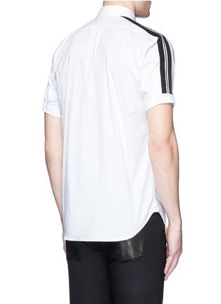 背面 - 点击放大 - ALEXANDER MCQUEEN - 条纹拼贴棉质短袖衬衫