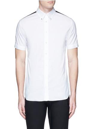 首图 - 点击放大 - ALEXANDER MCQUEEN - 条纹拼贴棉质短袖衬衫