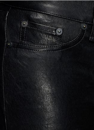 细节 - 点击放大 - RAG & BONE/JEAN - 修身羊皮弹力长裤