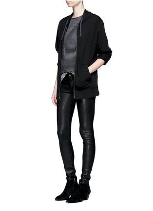 模特儿示范图 - 点击放大 - RAG & BONE/JEAN - 修身羊皮弹力长裤
