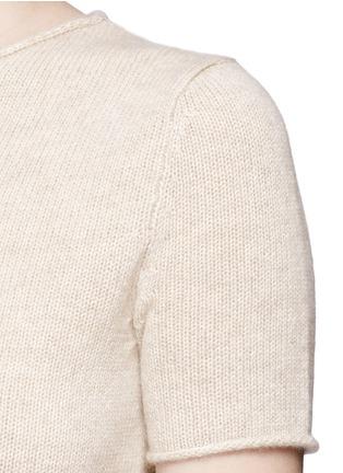 细节 - 点击放大 - THEORY - Tolleree羊绒针织T恤