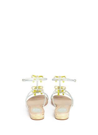 背面 - 点击放大 - RENÉ CAOVILLA - 仿水晶蝴蝶结平底凉鞋
