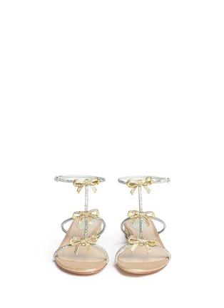 正面 - 点击放大 - RENÉ CAOVILLA - 仿水晶蝴蝶结平底凉鞋