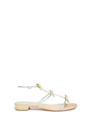 首图 - 点击放大 - RENÉ CAOVILLA - 仿水晶蝴蝶结平底凉鞋