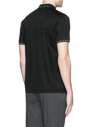背面 - 点击放大 - THEORY - 条纹装饰纯棉polo衫