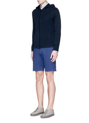 模特儿示范图 - 点击放大 - THEORY - 单色棉质短裤
