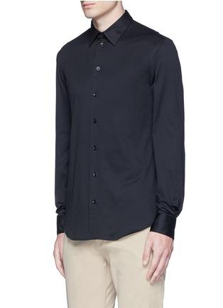 正面 -点击放大 - ARMANI COLLEZIONI - 单色纯棉修身衬衫