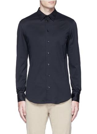 首图 - 点击放大 - ARMANI COLLEZIONI - 单色纯棉修身衬衫